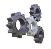 Metal cogwheels Royalty Free Stock Images