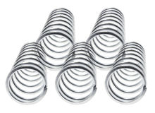 Metal Coils. On Isolated White Background stock photos