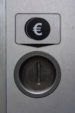 Metal Coin Slot Diagram Euro Closed Secure Payment Machine Royalty Free Stock Photography