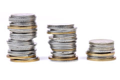 Metal coins Royalty Free Stock Images