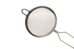 Metal colander close up Royalty Free Stock Image
