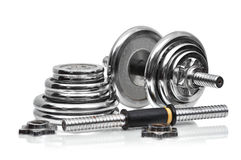 Metal collapsible dumbbell Stock Image