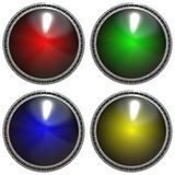 Metal color buttons isolated texture Royalty Free Stock Photography