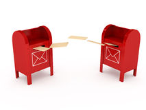 Metal color mailbox over white background Royalty Free Stock Image