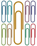 Metal and Color  Paper clips Royalty Free Stock Photography