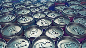 Metal colored can pattern 3d rendering stock illustration