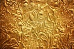 Metal com teste padrão floral Fotografia de Stock Royalty Free