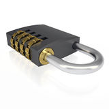 Metal combination lock Stock Photo