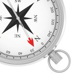 Metal compass with arrow isolated on white Royalty Free Stock Images