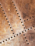 Metal con los remaches Foto de archivo libre de regalías