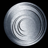 Metal concentric circles on a black background Royalty Free Stock Photo