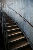 Metal and Concrete Industrial Curved Staircase Stock Photography