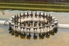 Metal construction. Of the fountain, St.Petersburg, Russia Royalty Free Stock Photo