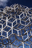 Metal construction. Of intertwining cubes Royalty Free Stock Images