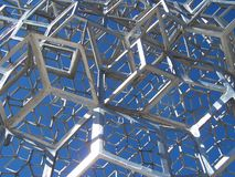 Metal Construction. Shining in the sun stock image