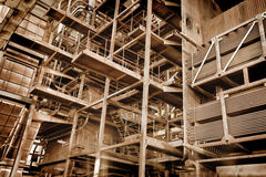 Free Metal Construction - Abandoned Industrial Area Royalty Free Stock Image - 28090076