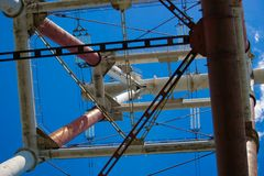 Metal construction. Blue sky Royalty Free Stock Photography