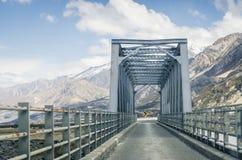 Metal construction bridge Royalty Free Stock Photo