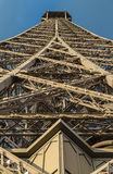 Metal construction of the Eiffel Tower Stock Photos