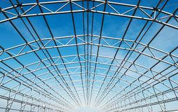 Metal construction framework Royalty Free Stock Images