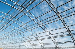 Metal construction framework royalty free stock photo