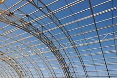 Metal construction framework background Stock Images