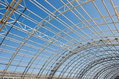 Metal construction framework background Royalty Free Stock Photography