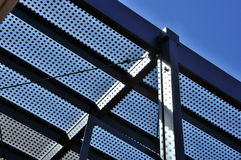 Metal construction with glass Royalty Free Stock Image