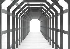 Metal construction like pergola or corridor Royalty Free Stock Photos