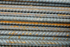 Metal construction rods. Royalty Free Stock Image