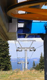 Metal Construction of Ski Lifts Stock Images