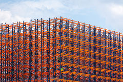 Metal construction on the sky background Royalty Free Stock Photography