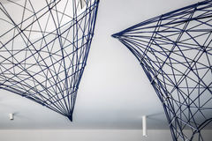 Metal constructions under ceiling Stock Image