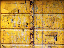 Metal container. Part of a yellow metal container Royalty Free Stock Photography