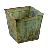 Metal container with a grunge finish Royalty Free Stock Photography