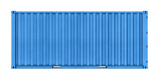Metal container isolated on white background Stock Images