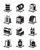 Metal containers icon set Stock Photography