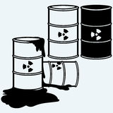 Metal containers for storage of toxic substances Royalty Free Stock Photos
