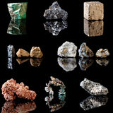 Metal containing minerals Stock Photos