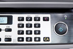 Metal control panel of big copier Royalty Free Stock Image