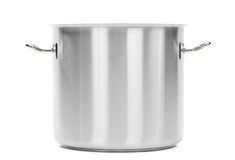 Metal cooker pot isolated Royalty Free Stock Image