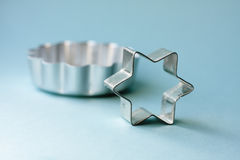 Metal cookie cutters Royalty Free Stock Photography