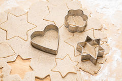 Metal cookie cutters Stock Photography