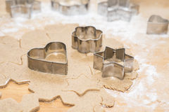 Metal cookie cutters Royalty Free Stock Photo