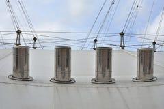 Metal cooling chimneys Stock Image