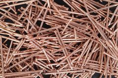Metal Copper Nails Stock Image
