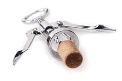 Metal corkscrew Stock Photos