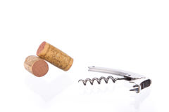 Metal corkscrew Stock Image