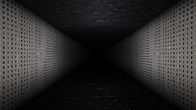 Metal Corridor Loop. Metal 6 seconds corridor loop video stock video