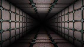 Metal Corridor Loop. 8 seconds Metal Corridor loop video. You can make eternal corridor with this loop video stock video footage